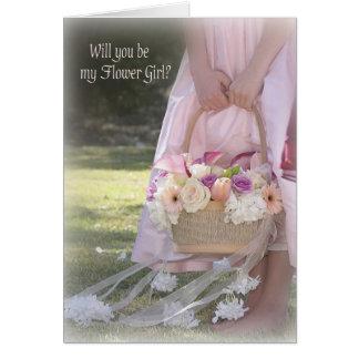 Invitación del florista tarjeta pequeña