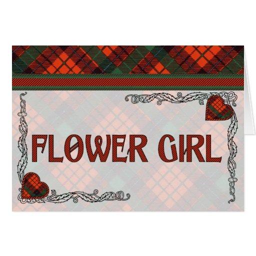 Invitación del florista - tartán de Nicolson Tarjeta De Felicitación
