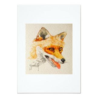 Invitación del Fox Invitación 12,7 X 17,8 Cm