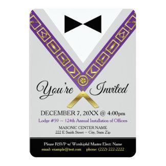Invitación del Freemason - joya masónica del gran