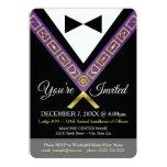 Invitación del Freemason - púrpura y joya masónica