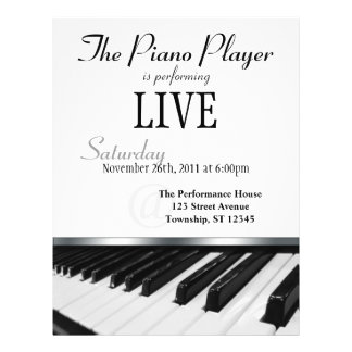 Invitación del funcionamiento de llaves del piano  tarjetas publicitarias
