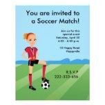 Invitación del fútbol del chica con el ejemplo