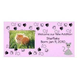 Invitación del gatito - rosa tarjetas fotográficas personalizadas