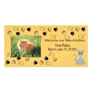 Invitación del gatito tarjeta fotografica personalizada