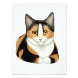 Invitación del gato de calicó
