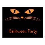 Invitación del gato negro postal