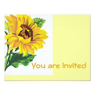 Invitación del girasol