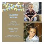 Invitación del globo del cumpleaños invitación 13,3 cm x 13,3cm