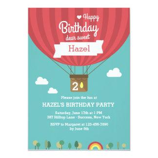 Invitación del globo del cumpleaños del aire