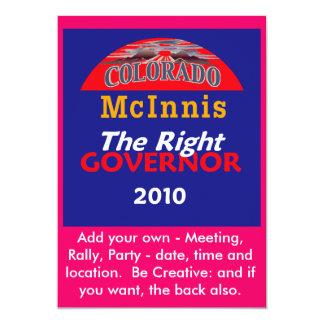 Invitación del gobernador de McINNIS