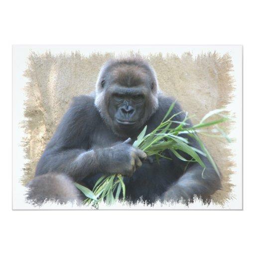 Invitación del gorila del Silverback