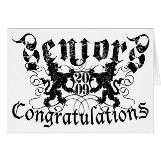 Invitación del gráfico de los mayores felicitaciones