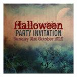 Invitación del Grunge de la luna de Halloween