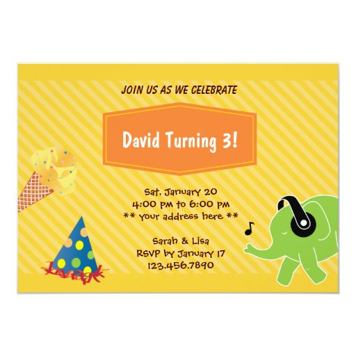 Invitación del helado 3ro y de la fiesta de invitación 12,7 x 17,8 cm
