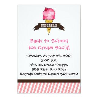 Invitación del helado del vintage
