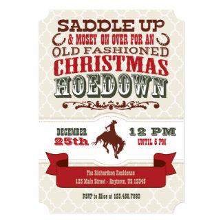 Invitación del Hoedown del navidad