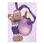 Invitación del hombre de pan de jengibre (púrpura)