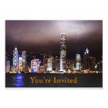 Invitación del horizonte de la ciudad invitación 12,7 x 17,8 cm