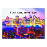 Invitación del horizonte de Nueva York Invitación 12,7 X 17,8 Cm