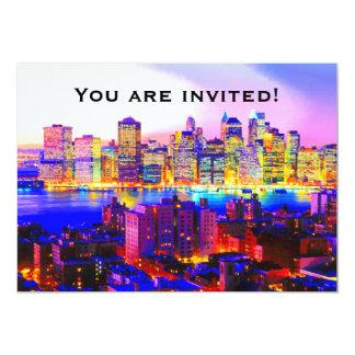 Invitación del horizonte de Nueva York