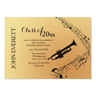 Invitación del instrumento musical de la trompeta
