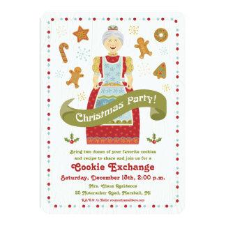 Invitación del intercambio de la galleta de la