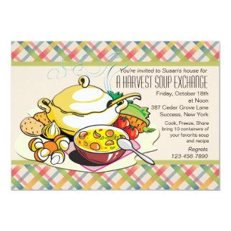 Invitación del intercambio de la sopa de la