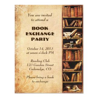Invitación del intercambio de libro invitación 10,8 x 13,9 cm