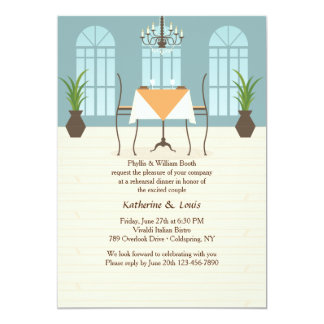 Invitación del interior del restaurante