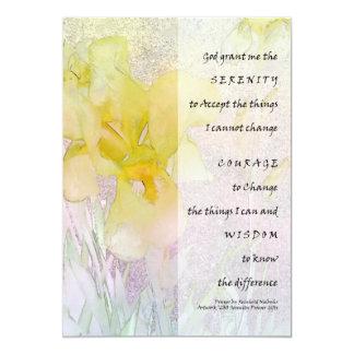 Invitación del iris amarillo del rezo de la invitación 12,7 x 17,8 cm