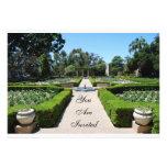 Invitación del jardín formal