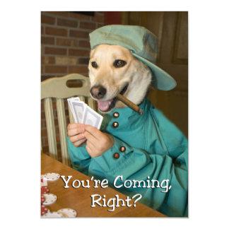 Invitación del juego de póker (perro)