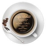 invitación del klatch del café