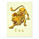 Invitación del león de Leo