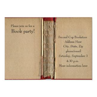 Invitación del libro viejo invitación 12,7 x 17,8 cm