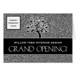 Invitación del logotipo del negocio de la gran ina tarjetas