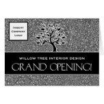 Invitación del logotipo del negocio de la gran tarjetas