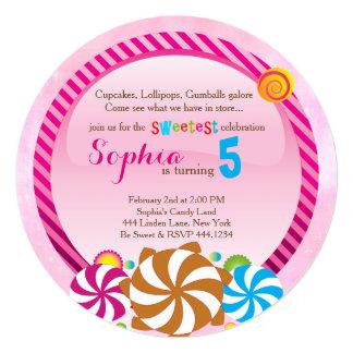 Invitación del Lollipop - invitación de CandyLand