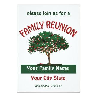 Invitación del manzano de la reunión de familia