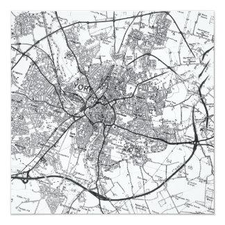 Invitación del mapa de la ciudad de York vieja