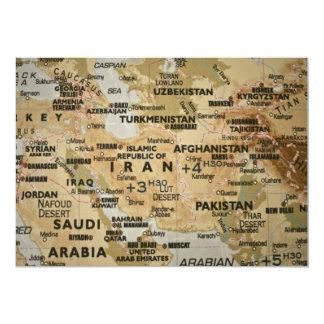 Invitación del mapa de Oriente Medio