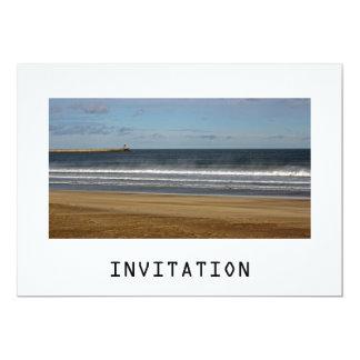 Invitación del mar, de la arena y del cielo invitación 12,7 x 17,8 cm