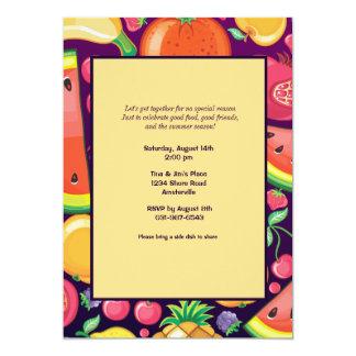 Invitación del marco de la fruta del verano