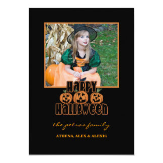 Invitación del marco del feliz Halloween