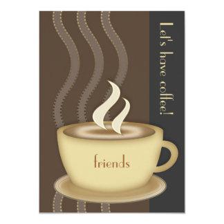 Invitación del medio de la taza de café