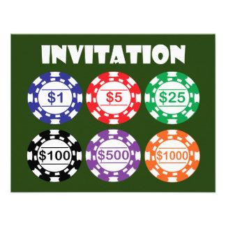 Invitación del microprocesador del casino