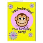 Invitación del mono de Lil Felicitaciones