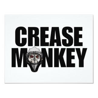 Invitación del mono del pliegue