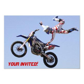 Invitación del motocrós